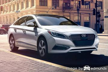Insurance rates Hyundai Sonata Hybrid in Greensboro