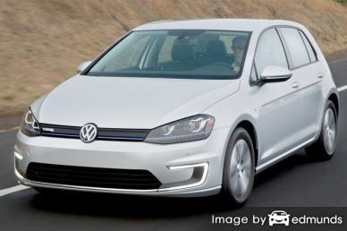 Insurance rates Volkswagen e-Golf in Greensboro